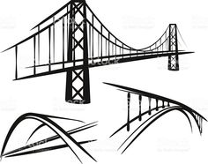 set of bridges royalty-free stock vector art Free Vector Art, Free Vector Images, Bridge Logo, Happy New Year Vector, Globe Vector, Waves Vector, Simple Illustration, Poster S, Business Cards