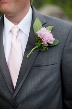 #groom ... dark gray suit with blush tie ... Wedding ideas for brides, grooms, parents & planners ... https://itunes.apple.com/us/app/the-gold-wedding-planner/id498112599?ls=1=8 … plus how to organise an entire wedding, without overspending ♥ The Gold Wedding Planner iPhone App ♥