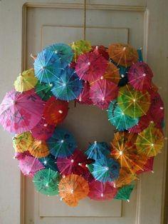 Foto: DIY summer wreath!. Geplaatst door ivkiona op Welke.nl
