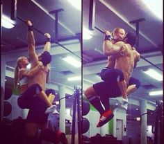 Real men do weighted pull-ups. #Fitness