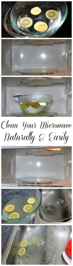 DIY Natural Cleaning: How to Clean the Microwave the easy way with natural cleaning supplies- www.realthekitchenandbeyond.com