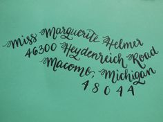 MARGUERITE  Custom Wedding Calligraphy Envelope by KoiKalligraphia, $1.50