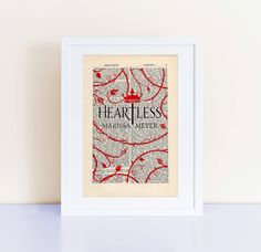Heartless by Marissa Meyer Print on a vintage by CartabanCards