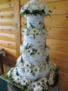 birch bark cakes   White Birch Tree Bark Cake -