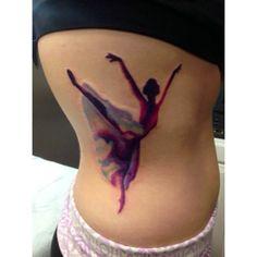 Watercolor Dancer Tattoo