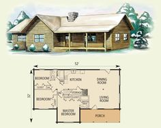 Back br will be my sunroom. Give me a bonus room upstairs for my gkids, and it's perfect! log home and log cabin floor plan