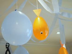 Goldfish balloons are such a cute and simple idea for an outdoor movie night! - Southern Outdoor Cinema expert tip for theming and enhancing an outdoor movie event.