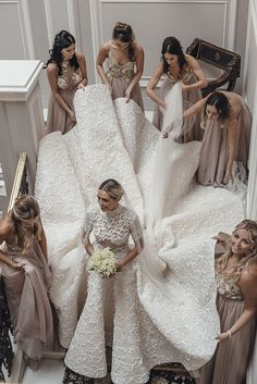 Camila's Bride Diary: Our wedding in Florence - Part 1 - Camila Carril Pretty Wedding Dresses, Wedding Looks, Bridal Dresses, Bridal Collection, Dress Collection, Dress Vestidos, Bridal Musings, Wedding Photography Poses, Brides And Bridesmaids