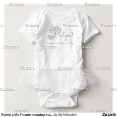 Paityn girls P name meaning custom baby clothing #paityn