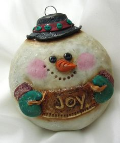 Snowman Christmas Ornament by curly girl designs, via Flickr