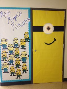 Despicable me door for 9th class decoration
