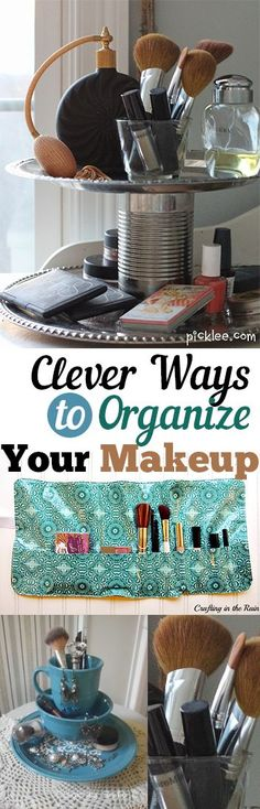 Clever Ways to Organize Your Makeup. organization, organizing hacks, stay organized, home, home decor, cleaning, cleaning tips, DIY organization, makeup, makeup organization.
