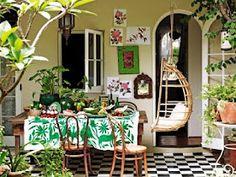 Otomi tablecloth via amber interiors