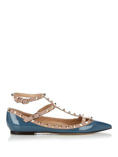 Rockstud patent-leather flats | Valentino | $955 MATCHESFASHION.COM AU