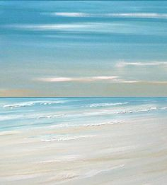 Beach ocean painting art print, seascape painting print, tropical art by Francine Bradette-FREE S
