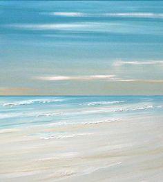 Beach ocean painting art print, seascape painting print, tropical art by Francine Bradette-FREE S