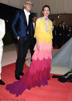 The Monaco royal, 29, daughter of Princess Caroline of Hanover and the late Stefano Casiraghi, an Italian industrialist was making a rare red carpet appearance and looked happy to stand out from the crowd