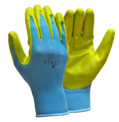 Lil' Digz are perfect for your little gardener!  The one size fits all design should fit most children's hands.  These gloves are nitrile dipped, which is perfect for those with latex allergies.