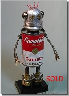 Andy, Found Object Robot ... by Sally Colby