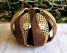 Items similar to Gourd Art Jewelry on Etsy Decorative Gourds, Hand Painted Gourds, Modern Dollhouse, Victorian Dollhouse, Gourd Lamp, Creation Deco, Wood Turning Projects, Handmade Home Decor, Wood Carving