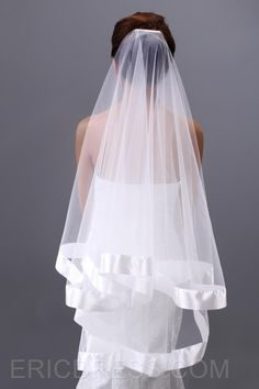Elegant Fingertip Wedding Veil with Edge Fingertip Veils- ericdress.com 10498078