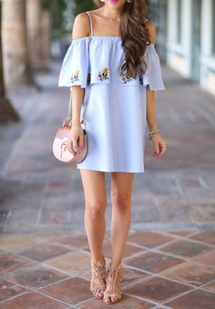Off Shoulder Dress... Southern Curls & Pearls waysify