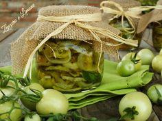 pomodori verdi sott'olio -