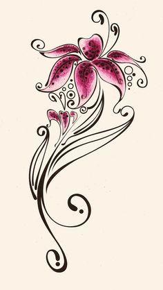 5b38e8795f1a6a6a5865516878b87559--lily-flower-tattoos-lilies-tattoo.jpg (236×418)