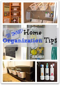 Home Organization Tips - SO SMART!!