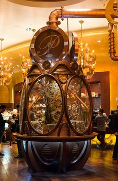 Steampunk Timeclock created in Chocolate with its own time piece that works on the hour with truffles and small chocolates offered as well Chocolate World, Chocolate Dreams, Chocolate Shop, Love Chocolate, How To Make Chocolate, Chocolate Lovers, Chocolate Recipes, Chocolate Showpiece, Food Sculpture