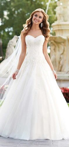 4f4f8eb6507 Stella York Fall 2015 Bridal Collection - Belle The Magazine I would  personally ask a seamstress to sew on cuff sleeves then this would be perf