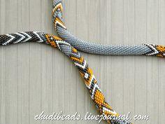 Bead Crochet Necklace Ethno by Chudibeads on Etsy Crochet Beaded Bracelets, Bead Crochet Rope, Crochet Necklace, Beaded Necklace, Beaded Crochet, Necklaces, Bead Loom Patterns, Beading Patterns, Crochet Patterns