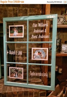 A personal favorite from my Etsy shop https://www.etsy.com/listing/448683774/on-sale-rustic-picture-window-wedding