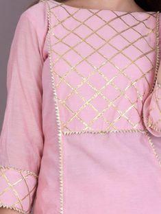 Buy Baby Pink Kurta Skirt Set for Women Online in India Simple Pakistani Dresses, Pakistani Fashion Casual, Pakistani Dress Design, Indian Fashion, Korean Fashion, Sleeves Designs For Dresses, Dress Neck Designs, Stylish Dress Designs, Blouse Designs