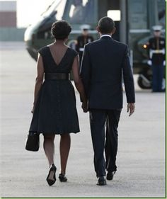 President Barack Obama and the First Lady, Michelle Obama