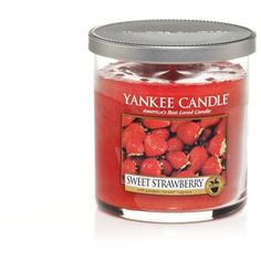 Yankee Candle Regular sweet strawberry tumbler ($16) ❤ liked on Polyvore