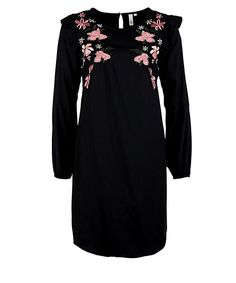 Q/S designed by Crêpekleid mit Embroidery Cold Shoulder Dress, Embroidery, Blouse, Long Sleeve, Sleeves, Medium, Tops, Dresses, Design