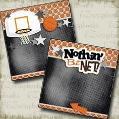 Nothin But Net Purple NPM - 3277 Basketball Scrapbook Pages. Just add photos. Only per set. Scrapbook Page Layouts, Scrapbook Pages, Fantasy Basketball, Printed Pages, Creative Memories, Box Design, Digital Scrapbooking, Scrapbooking Ideas, Scrapbooks