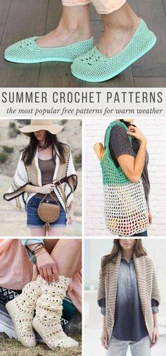 24+ Popular Spring and Summer Crochet Patterns -- All Free Crochet Patterns!