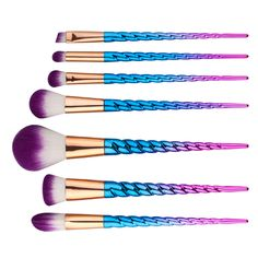 New Colorful Foundation Brush Powder Blush Brush Eyeshadow Make Up Brushes Unicorn Thread 7 pcs Makeup Brushes Set M03018 -in Makeup Brushes & Tools from Health & Beauty on Aliexpress.com | Alibaba Group