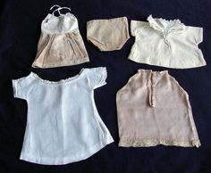 Lot of Antique Victorian & Edwardian Doll Clothes c.1910
