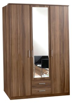 Osaka 2 Door Walnut Wardrobe Free UK Delivery Buy direct from our website : www.woodlers.co.uk