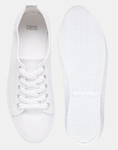 Image 3 of ASOS DAGNALL Canvas Lace Up Sneakers