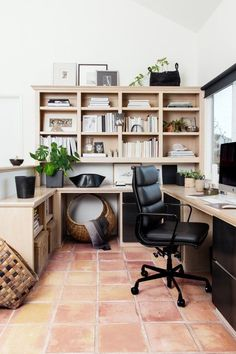 We've compiled this handy cheat sheet that runs through all of the major components that you'll need to address in order to design a productive and stylish home office. Take a look. #hunkerhome #homeoffice #homeofficeideas #homeofficeinspo #homeofficedecor Traditional Office Storage, Small Storage, Built In Storage, Slim Bookcase, Small Home Offices, Built In Furniture, Ergonomic Chair, Furniture Arrangement, One Bedroom