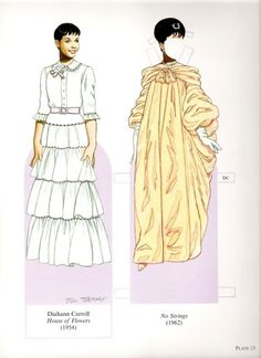 16 Great Stars of the Broadway Musical Paper Dolls by Tom Tierney  - Dover Publications, Inc.,2004: Plate 13 (of 16)