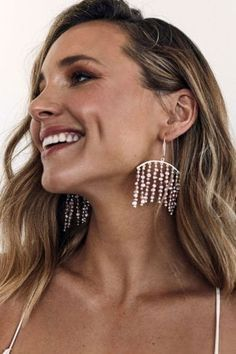 From delicate drops to statement hoops, create your ultimate bridal look with the Grace Loves Lace jewellery collection. Bridal Earrings, Tassel Earrings, Statement Earrings, Bridal Jewelry, Natalie Marie Jewellery, Lace Bride, Grace Loves Lace, Lace Jewelry, White Freshwater Pearl