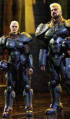 Sasha and Aleksis, Jaeger team in Pacific Rim.