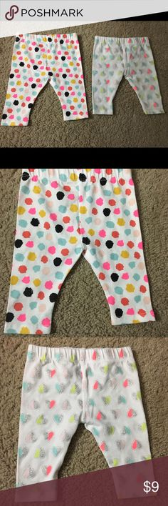 NWOT Cat and Jack leggings 0-3M NWOT leggings by Cat and Jack. My daughter never got a chance to wear them! Super cute! Cat and Jack Bottoms Leggings