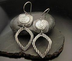 Tidal Wave  Sterling Silver Earrings by designsbysuzyn on Etsy, $75.00