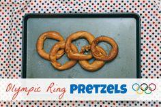 Olympic Ring Pretzels